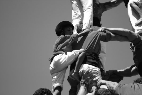 Attendance to an exhibition of human towers